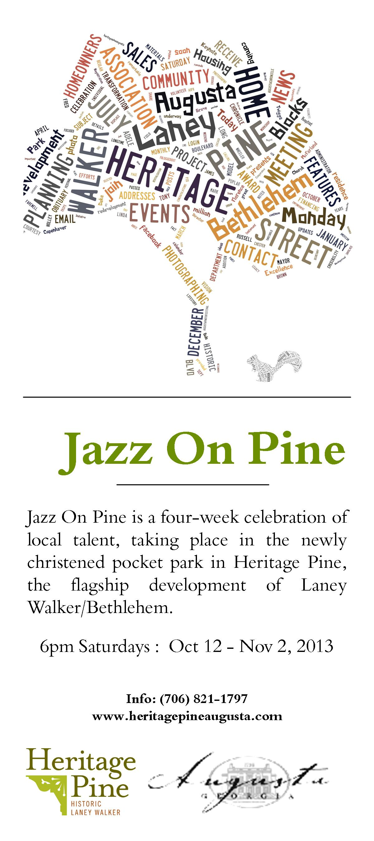 Jazz On Pine Concert Series Saturdays October 2013